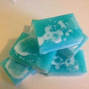 Here's our Beach Fling Soap fresh out of its mold!