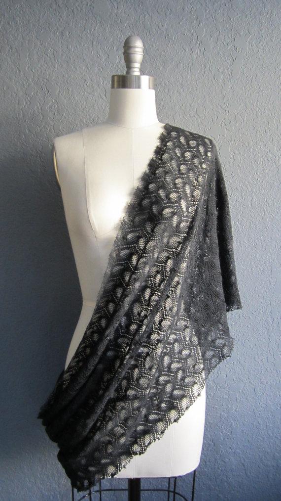 """Kat"" Crochet Lace Infinity Wrap"