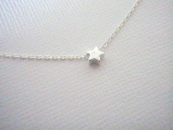 Tiny Sterling Silver Star Necklace - $14.00 by West9th on Etsy