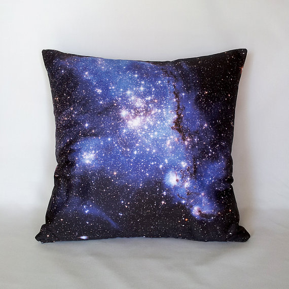 Blue Galaxy Star Field Pillow Cover - $42.00 by geographyhandmade on Etsy